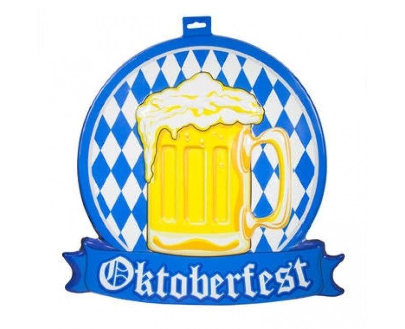 3D bord Oktoberfest Bierpul 42 x 46 cm