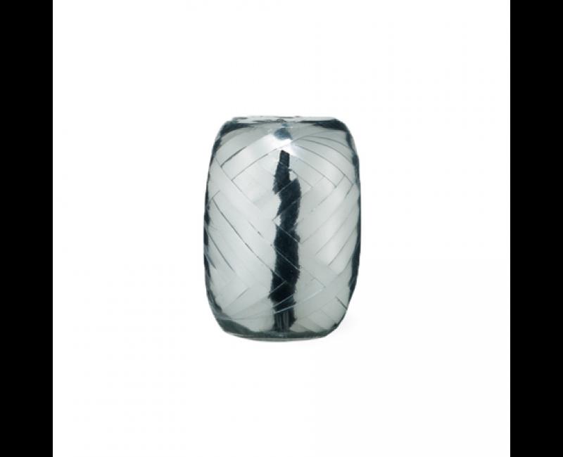 Rolletje lint 5mm zilver metallic, 20 meter