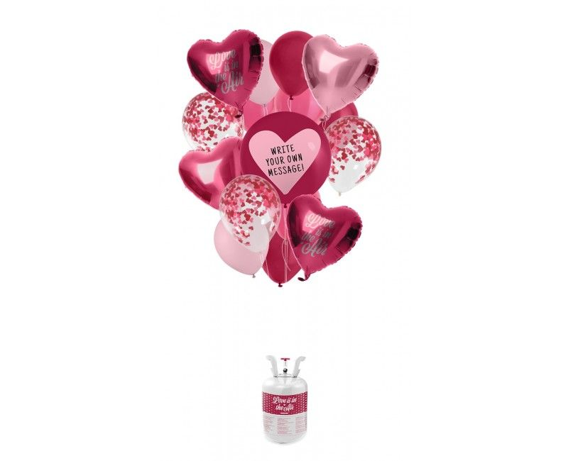 Valentijns helium ballonnen pakket