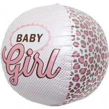 Folieballon rond XL Baby Girl