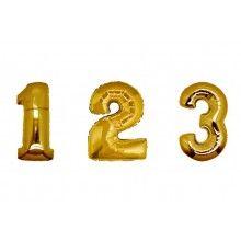 Folieballon cijfers 35 cm goud