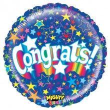 Folieballon mighty bright starry congrats