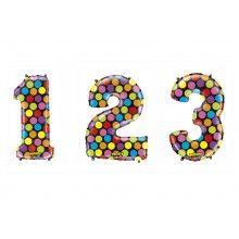 Folieballon cijfers 100 cm Multi