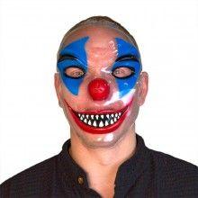 Transparant masker horror clown