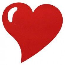 Placemat hart glitter rood, 2 stuks