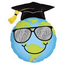 Folieballon look out world grad