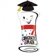 Folieballon congrats grad diploma