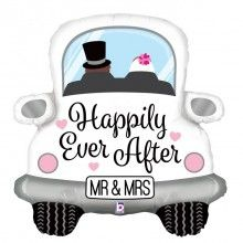 Folieballon happily ever after car