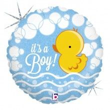 Folieballon Folieballon bubble ducky boy