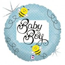 Folieballon baby boy bee