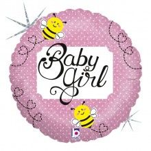 Folieballon baby girl bee