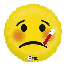 Folieballon emoji sick 46cm