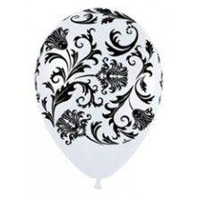 Sempertex ballonnen wit, damask 25 stuks