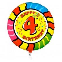 Folieballon animaloon Happy Birthday 4
