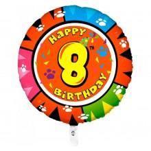 Folieballon animaloon Happy Birthday 8