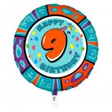 Folieballon animaloon Happy Birthday 9