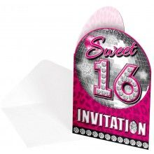 Uitnodigingen Sweet Sixteen party