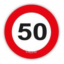 Tafelconfetti 50 jaar verkeersbord