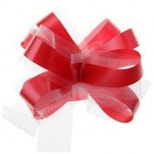 Trekstrik rood/wit 5 stuks