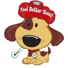 Folieballon feel better sick pup 94cm