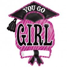 Folieballon you go girl grad