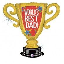 Folieballon World's best dad trophy