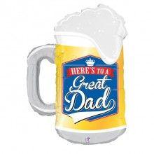 Folieballon Great dad beer mug
