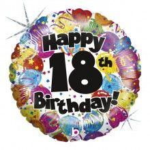 Folieballon Happy 18th Birthday
