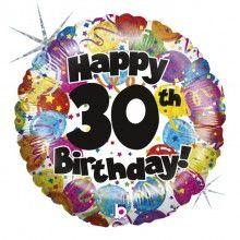 Folieballon Happy 30th Birthday