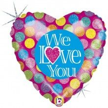 Folieballon We love you