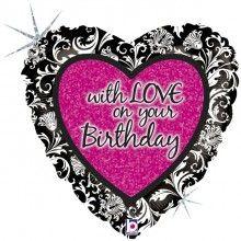 Folieballon With love on your birthday