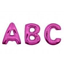 Folieballon letters 35 cm fuchsia