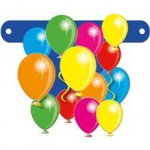 Banner letter ballonnen, hoogte 11cm