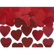 Tafelconfetti grote harten 25 mm