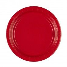 Bord 23cm appel rood, 8 stuks