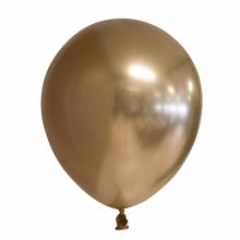 Chroom ballon 30cm goud, 10 stuks