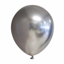 Chroom ballon 30cm zilver, 10 stuks