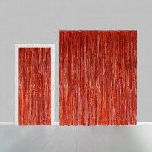Deurgordijn rood metallic 100 x 200cm