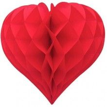 Honeycomb hartvorm rood