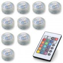 LED verlichting RGB 10 stuks met afstandsbediening