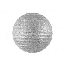 Lampion silver glitter