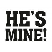 Schoenstickers He's mine