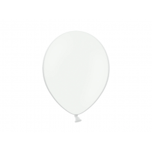 Party ballon 27cm wit, 10 stuks