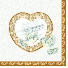 Luxe servetten Wedding March