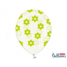 Ballonnen flower dots groen