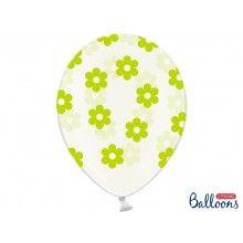 Ballonnen transparant met groene bloemen