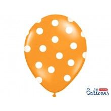 Ballonnen polka dots oranje wit