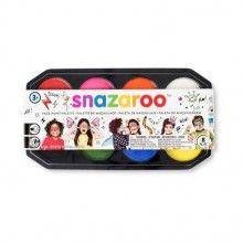 Snazaroo jumbo schmink pallet met 8 kleuren