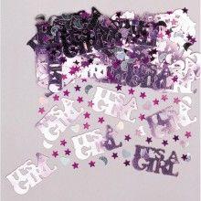 Tafelconfetti It's a girl met hartjes maan en sterren, zakje 14 gram